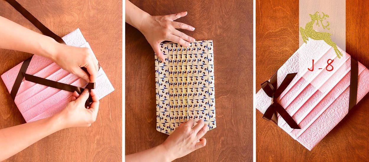 J-8 : Transformez vos papiers cadeaux en œuvres d'art