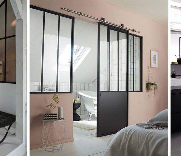 d co transformer un appartement avec une verri re d int rieure en bois blanc. Black Bedroom Furniture Sets. Home Design Ideas