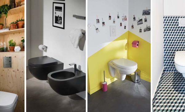 6 idées pour des toilettes suspendues super tendance !