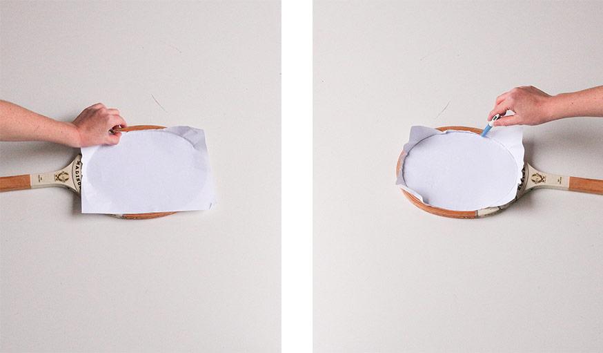 Tuto transformez une raquette vintage en miroir tendance for Decouper un miroir