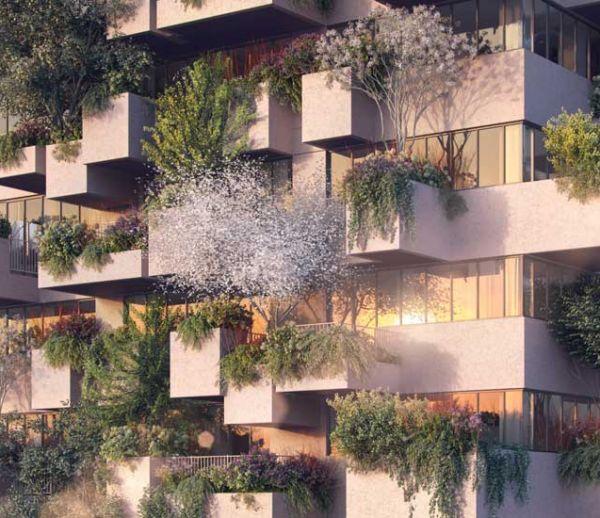 Cette incroyable forêt verticale de 75 mètres abritera des logements sociaux