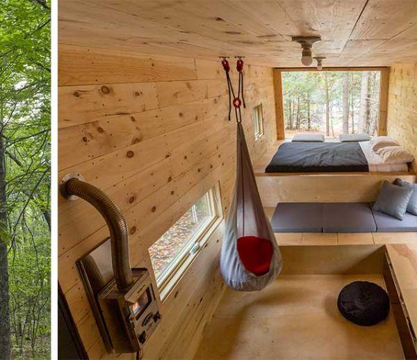 Des cabanes perdues dans les bois pour échapper au stress de la ville