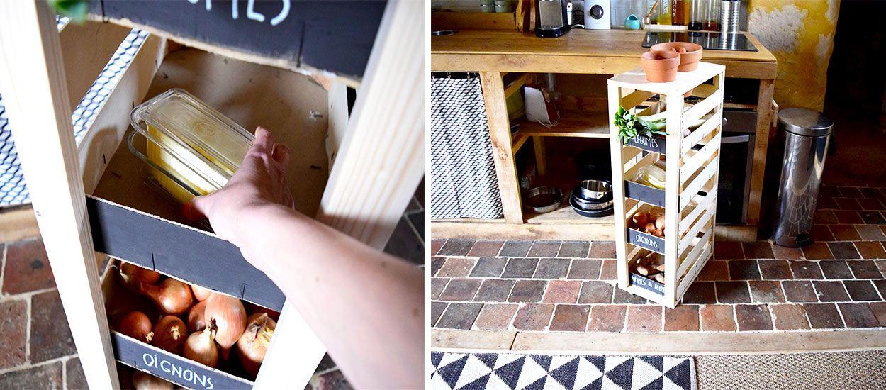 Tuto : Fabriquez un garde-manger en cagettes pour apprendre à vivre sans frigo