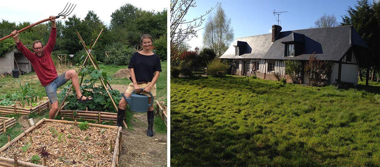 Thibault et Elsa ont quitté Paris et leur travail pour lancer leur ferme bio en Normandie