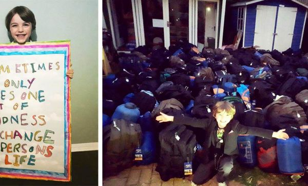 Jacob, 7 ans, récolte 130 sacs de nourriture et de premières nécessités pour des personnes sans-abri
