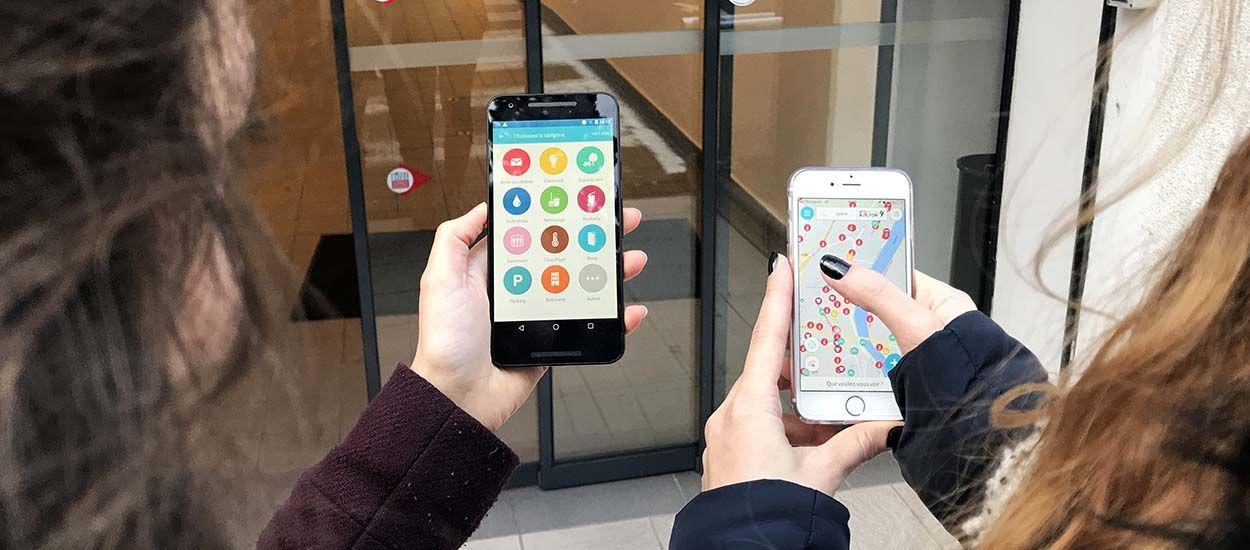Cette application permet de signaler un problème dans son immeuble en prenant une photo