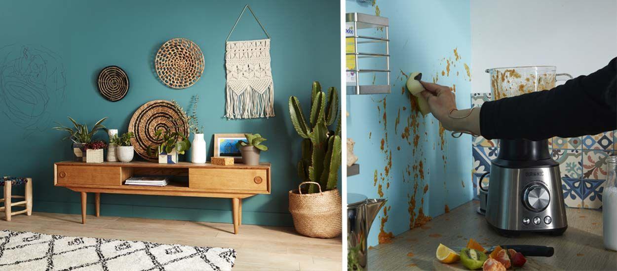 La peinture lessivable Color Resist ne craint ni les taches ni les gribouillages