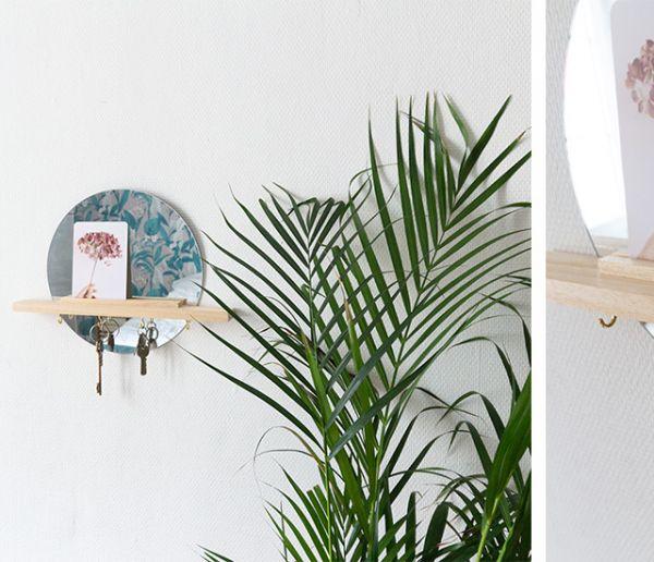 Tuto : Fabriquez cette super étagère miroir qui vous permet de ranger vos clés