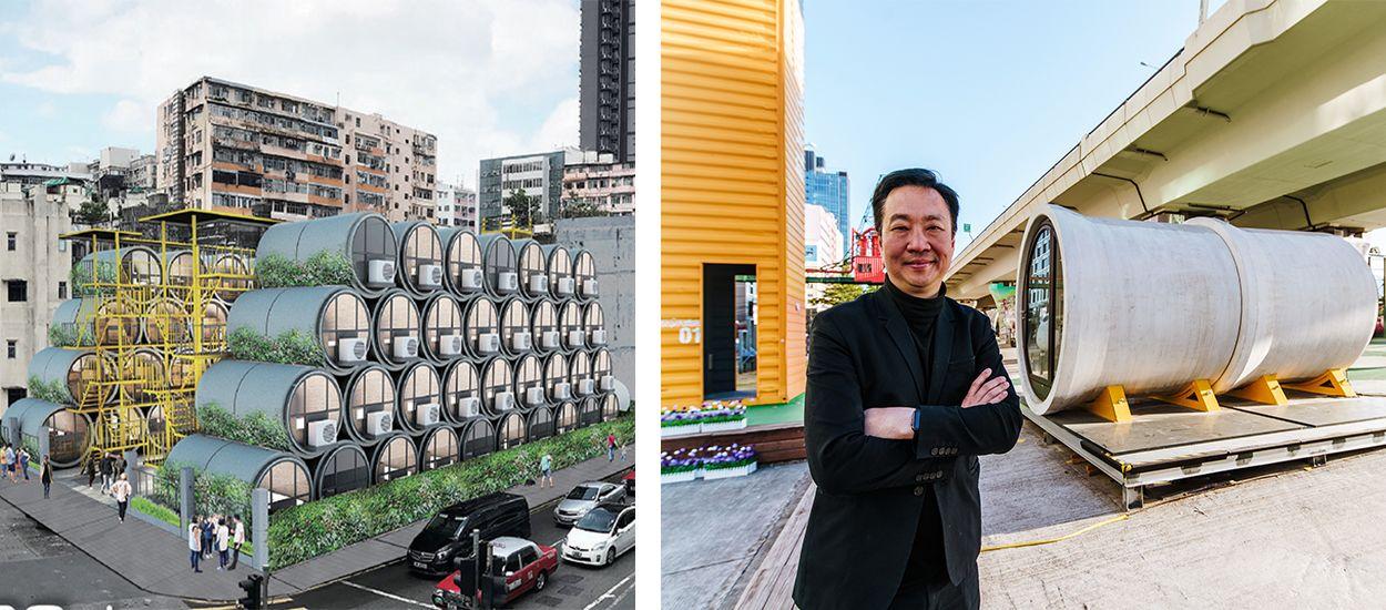 Il transforme des tubes en béton en appartements design pour résoudre la crise du logement