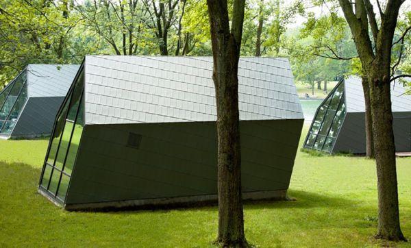 Découvrez ces cabanes soufflées par le vent à Montréal