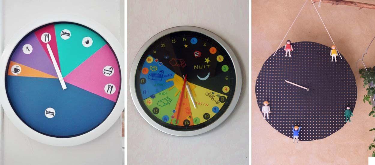 Des horloges de routine pour se rep rer dans le temps montessori enfant - Horloge design pour salon ...