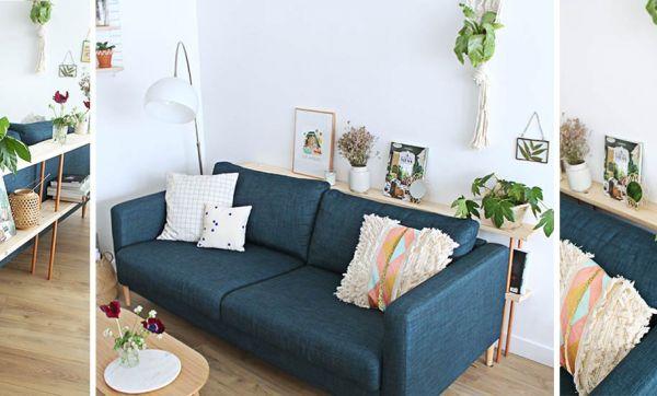 Tuto : Fabriquez un derrière de canapé en bois design