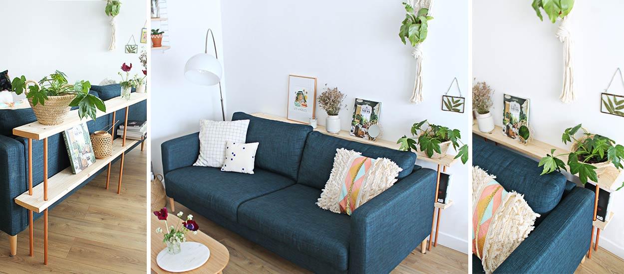 Diy canap fabriquez un meuble design et pratique pour l for Meuble derriere canape