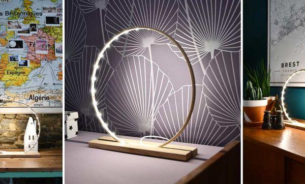 Tuto : Fabriquez une lampe décorative LED tendance avec un cercle de broderie