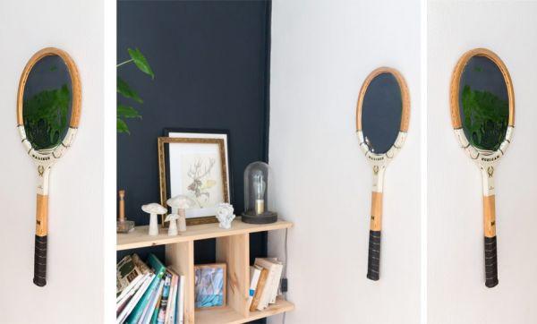 Tuto : Transformez une raquette vintage en miroir tendance