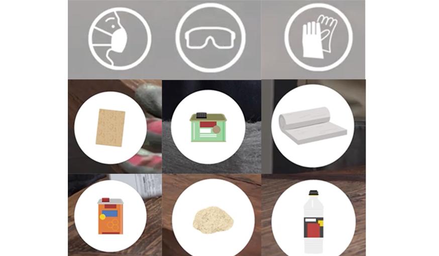 tutoriel vid o apprendre restaurer une table en bois. Black Bedroom Furniture Sets. Home Design Ideas