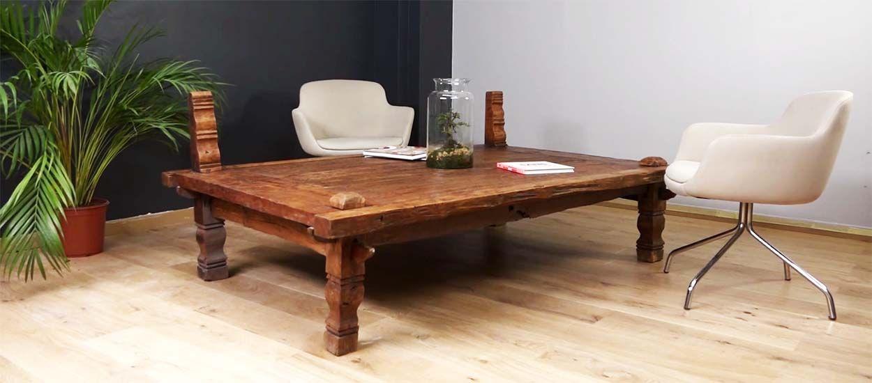 tutoriel vid o apprendre restaurer une table en bois vintage. Black Bedroom Furniture Sets. Home Design Ideas