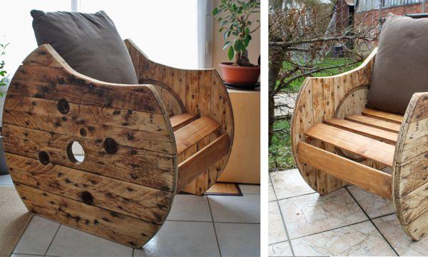 DIY : Fabriquez un fauteuil original en touret pour 20 euros seulement