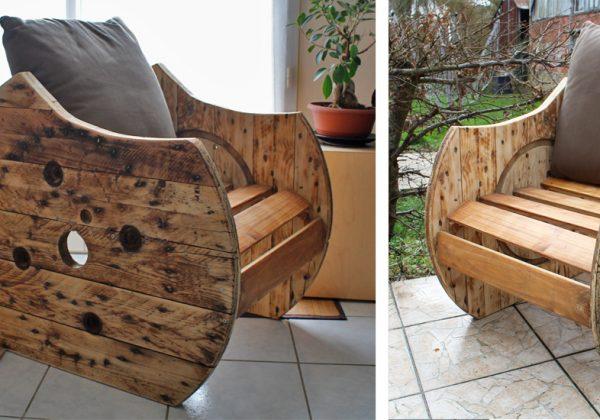 Tutoriel : Fabriquez un fauteuil original avec un touret en bois ...
