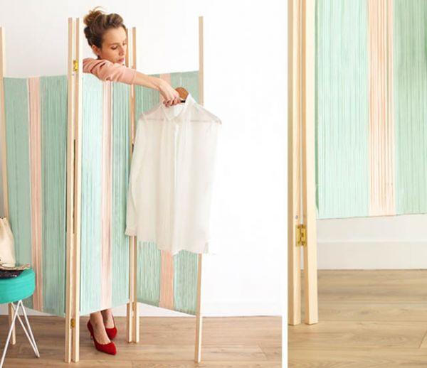 Tuto : Fabriquez facilement un paravent avec du trapilho, ce fil de tissu écolo