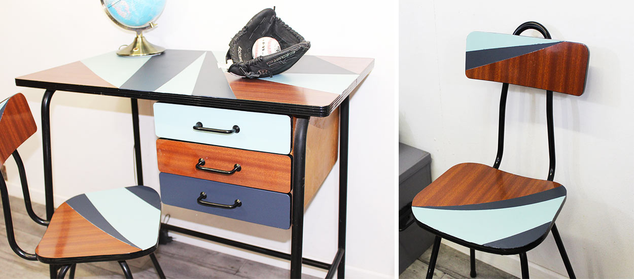 diy moderniser et relooker vos meubles en formica avec de la peinture. Black Bedroom Furniture Sets. Home Design Ideas