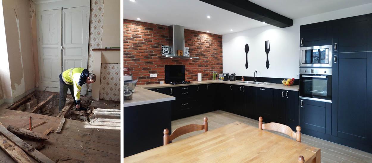 avant apr s r nover une maison de 2 tages pour 35 000. Black Bedroom Furniture Sets. Home Design Ideas
