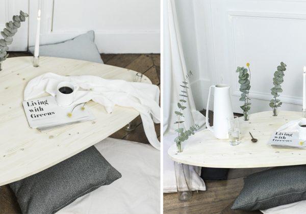 Fabriquez Une Table De Salon En Bois Avec Des Pieds En