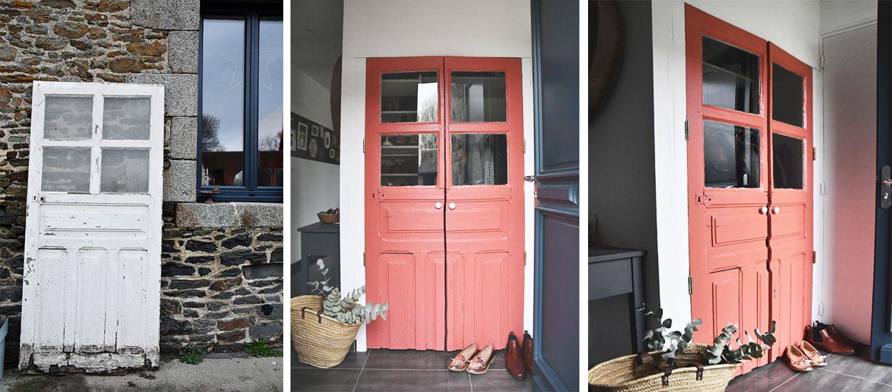 Tuto chiner et r nover une vieille porte en porte de placard vintage for Renover porte entree