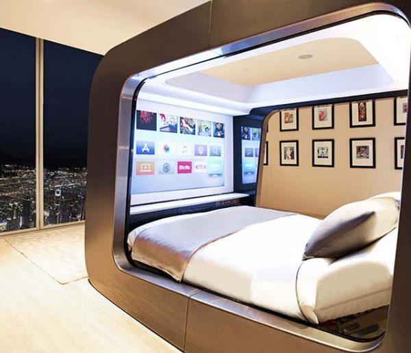 Ce lit transforme votre chambre en salle de cinéma et améliore votre santé