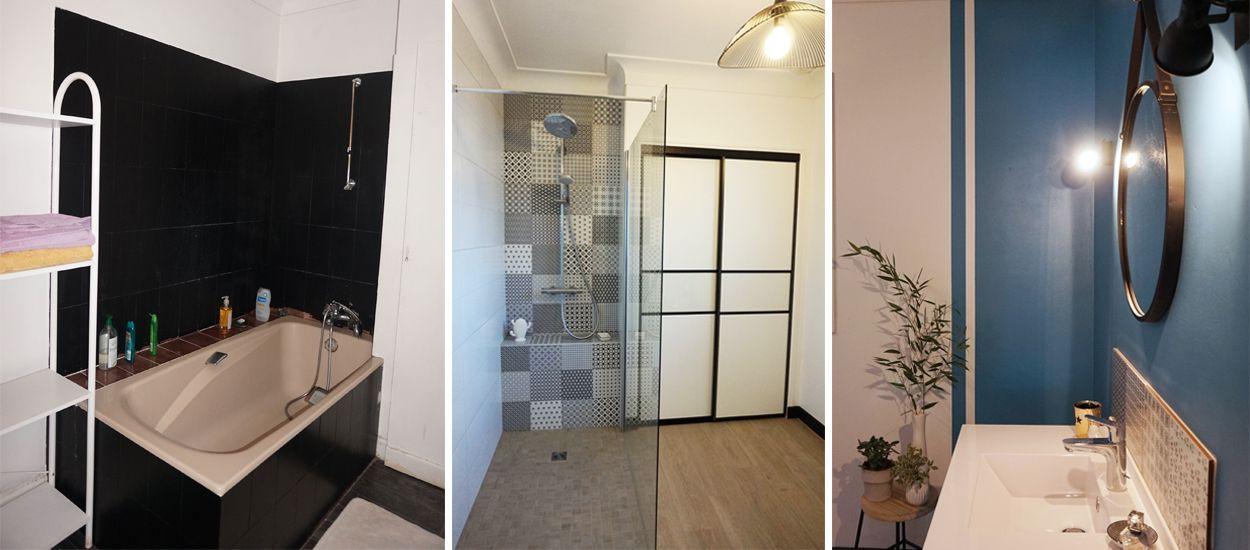 Avant / Après : Douche à l'italienne et style rétro dans cette salle de bains métamorphosée