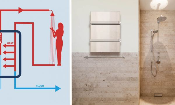 Économisez 90 % d'énergie avec ce chauffe-eau qui récupère la chaleur de l'eau de la douche
