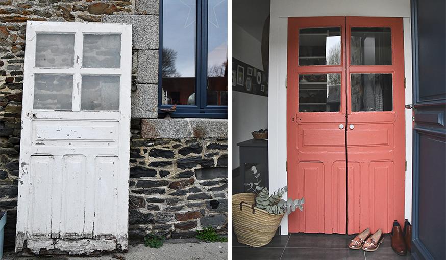 tuto chiner et r nover une vieille porte en porte de placard vintage. Black Bedroom Furniture Sets. Home Design Ideas