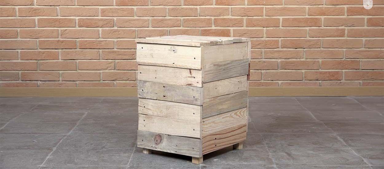 Tuto : Fabriquez un pouf avec du bois de palette pour moins de 5 euros