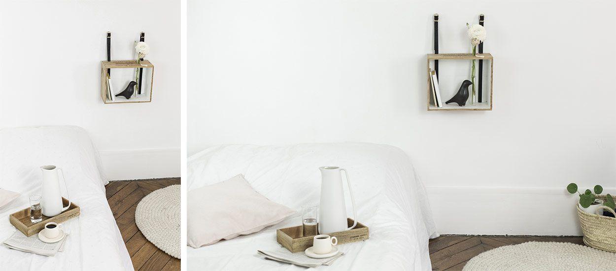 Tuto : fabriquez une table de nuit fleurie et romantique avec une caisse à vin