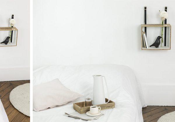 Diy Habillez Vos Murs Avec Une Table De Nuit Faite A