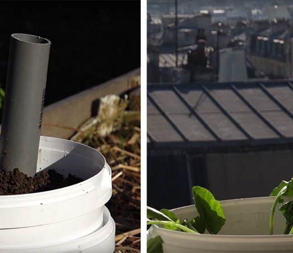 Tuto : Fabriquez une jardinière à réserve d'eau écolo à partir de seaux recyclés