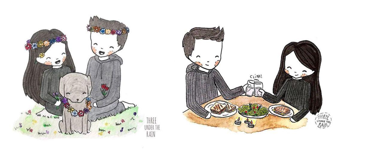 Vous allez adorer ces illustrations des petits moments de bonheur à la maison
