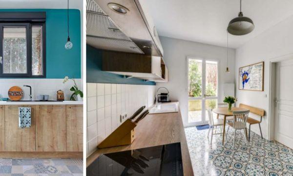 Inspirez-vous de ces deux avant / après pour aménager une cuisine déco et conviviale