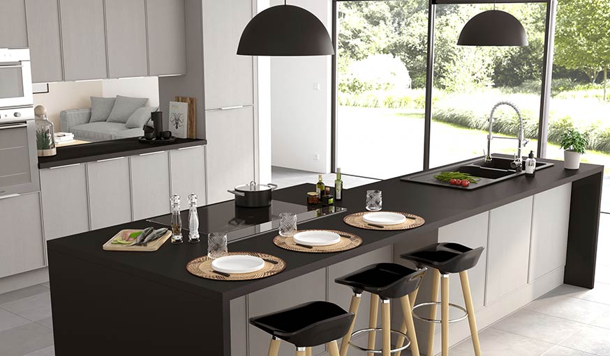 13 id es d co pour am nager une cuisine ouverte et familiale. Black Bedroom Furniture Sets. Home Design Ideas