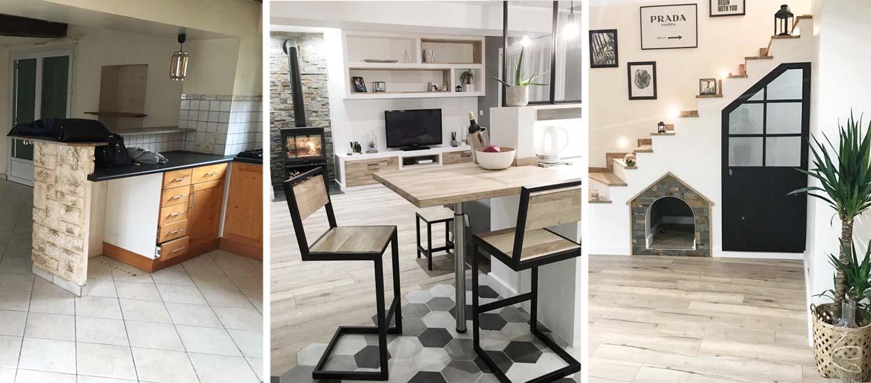 corps de ferme r nover ils refont tout eux m mes photos avant apr s. Black Bedroom Furniture Sets. Home Design Ideas