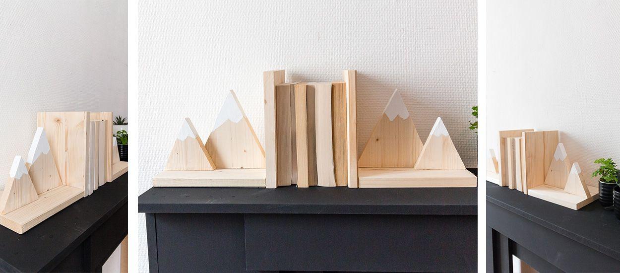 Tuto : Fabriquez un serre-livre en forme de montagne pour moins de 10 euros !