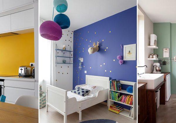 11 Idées De Murs Colorés Idées Peinture Colorée à L