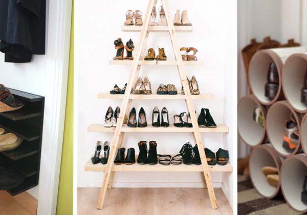 Diy Rangement Chaussures 18 tutoriels pour fabriquer un rangement pour chaussures pas cher