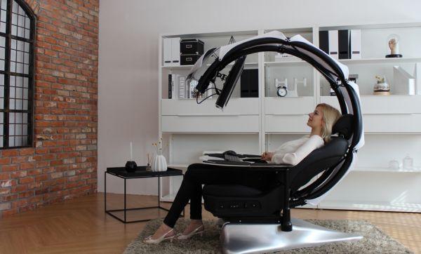 Travailler allongé : votre rêve enfin possible grâce à ce siège venu du futur