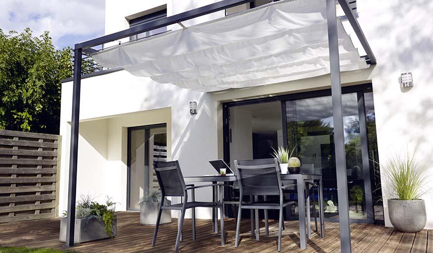 tonelle castorama cool merveilleux tonnelle de jardin castorama a propos de toile pour pergola. Black Bedroom Furniture Sets. Home Design Ideas