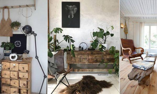 13 inspirations de meubles en bois brut pour une déco authentique