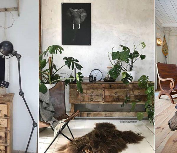 Inspiration décoration intérieur 13 mobiliers en bois brut