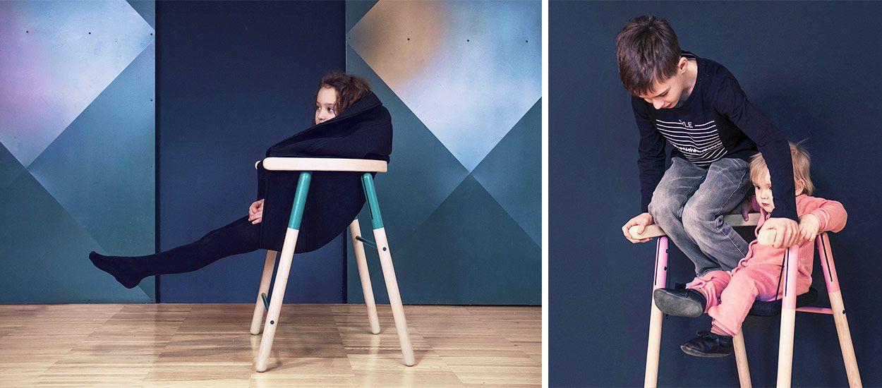 Ces chaises sont faites pour les enfants qui aiment se balancer  !