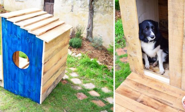 Tuto : Construisez une adorable niche en palettes pour moins de 60 euros