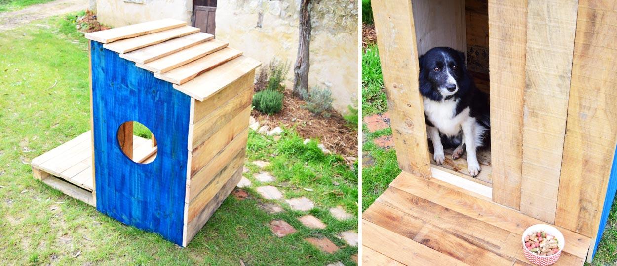 diy niche en palettes construisez un abri en bois pour votre chien pour moins de 60 euros. Black Bedroom Furniture Sets. Home Design Ideas